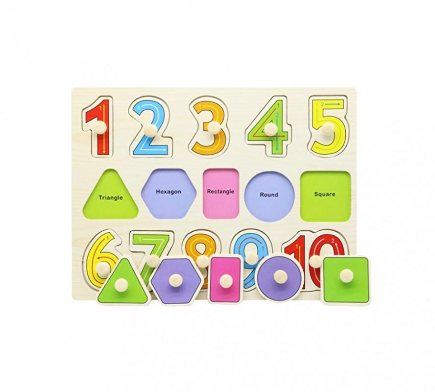 กระดานจิ๊กซอว์ไม้ตัวเลข Numbers