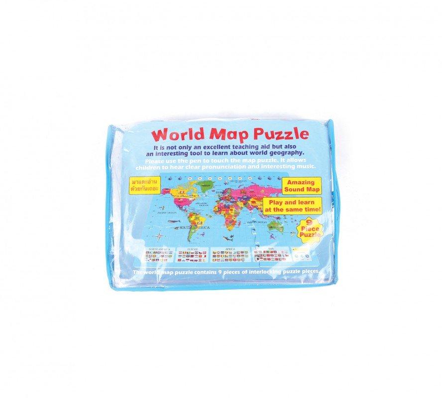 จิ๊กซอว์แผนที่โลกพูดได้ World Map Puzzle